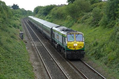 228 on the 11:00 Dublin Connolly to Belfast Central, Balbriggan, Thursday, 07/07/11