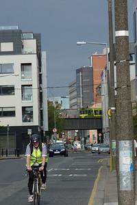 8330 crosses Townsend Street as it enters Tara Street Station. Thursday, 14/07/11