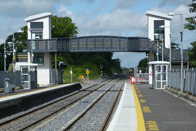 A 29000 is seen arriving off the M3 Parkway line into Clonsilla on a service to Dublin Connolly. Thursday, 12/07/12