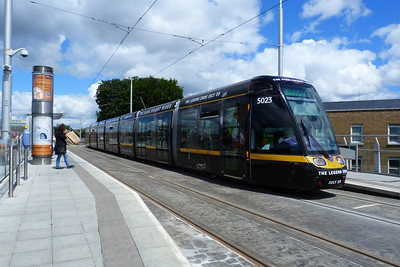 Green Line Luas tram 5023 has been given an AOA for 'The Dark Knight Rises'. One just hopes that the Luas is not used in a similar way to the public transport system in 'Batman Begins'. Ranelagh, Wednesday, 11/07/12