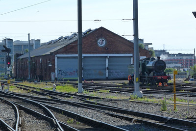 461 has returned to Dublin and seen simmering away outside the shed at Dublin Connolly, Sunday, 15/07/12