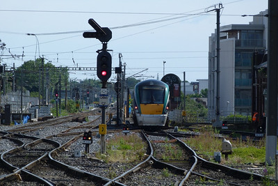22008 after shunting out of the yard onto the wash-road at Dublin Connolly, Sunday, 15/07/12