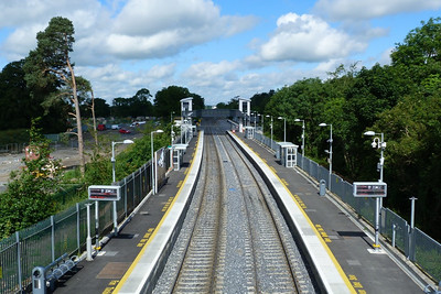 The view from the old footbridge at Clonsilla looking towards the new footbridge. Thursday, 12/07/12