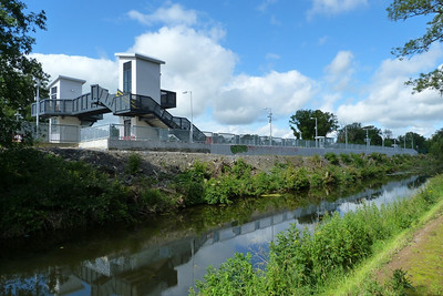 The new bay platform is built right on the edge of the Royal Canal. Clonsilla. Thursday, 12/07/12