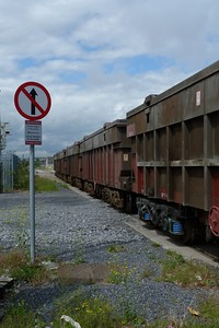 The wagons exiting North Wall Yard. Wednesday, 04/07/12
