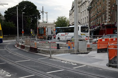 Luas XC College St works 27 July 2017