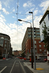 Luas XC new lighting on Marlborough St 27 July 2017