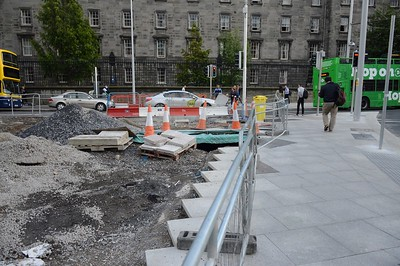 Luas XC footpath works on College St 27 July 2017
