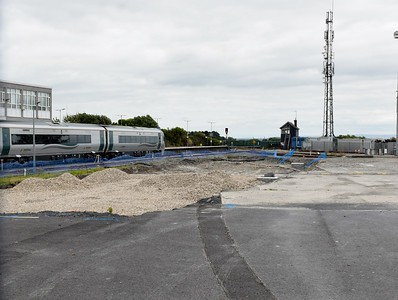 Clearance works at Galway station 5 July 2019