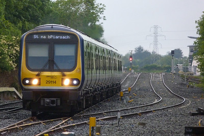 29114 on the 06:15 Longford to Dublin Pearse, Clonsilla, Tuesday, 07/06/11