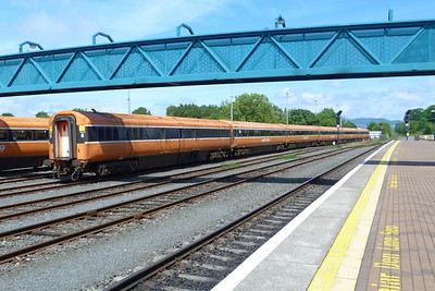 The stored Mark 3 Push/Pull carriages. Dundalk, Wednesday, 20/06/12