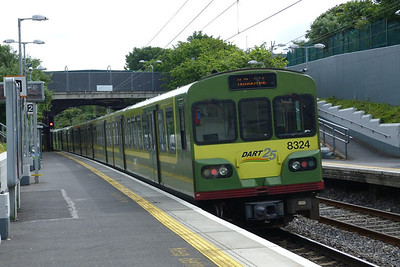 8324 departs Killester with a northbound DART working to Malahide. Sunday, 17/06/12
