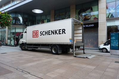 An example of DB Schenker's currently only presence in Ireland. Henry Street, Dublin, Thursday, 14/06/12