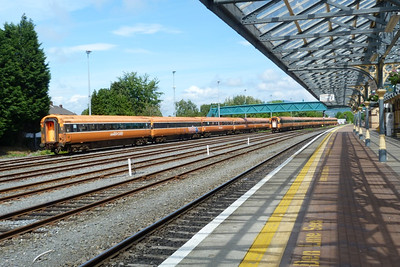 The two rakes of stored Mark 3 sets at Dundalk, Wednesday, 20/06/12