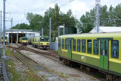 DART line-up at Fairview Depot with (l-r) 8615, 8637, 8608 and 8330. Sunday, 17/06/12