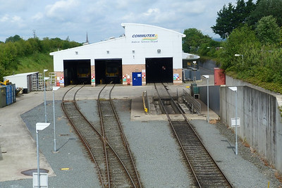 A view of the depot at Drogheda, with two 29000s inside. Wednesday, 20/06/12