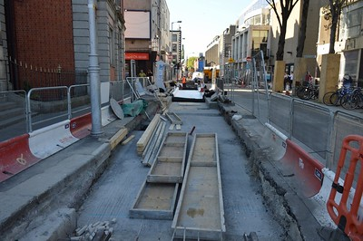 Luas XC works Marlborough St 2 June 2016
