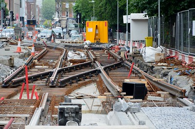 Luas XC track works St Stephens Green 9 June 2016