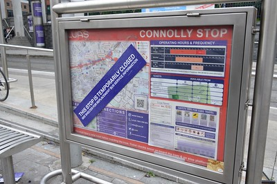 Notice on Luas Stop Connolly 9 June 2016