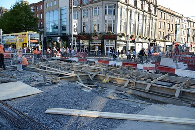 Luas XC junction work on O'Connell St 2 June 2016