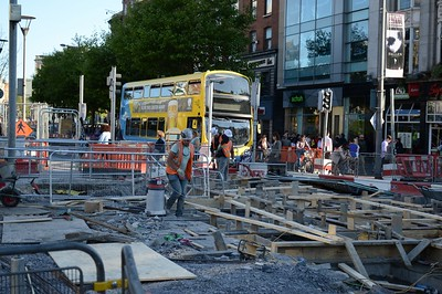 Luas XC junction works on O'Connell St 2 June 2016