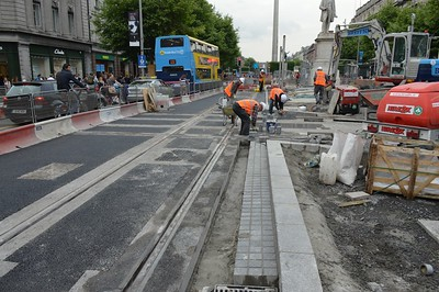 Luas XC works  O'Connell St 9 June 2016