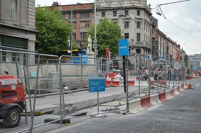 Luas XC works Abbey St & O'Connell St 9 June 2016