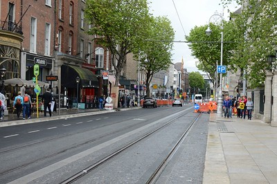 Luas XC nearly completed Dawson St 3 June 2017