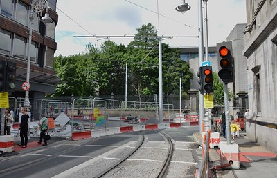 Luas XC Dawson St & Nassau St junction 3 June 2017