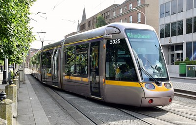 5025 St Stephens Green 29 June 2019 Trams were terminating here due to the Pride Parade in the City Centre.  Nice to see the crossover in use again.
