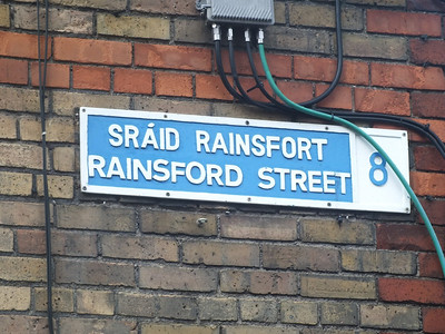 Rainsford Street sign 29 June 2013