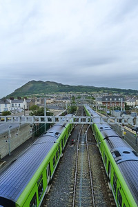 The journey along the 12.5 mile route to Harcourt Street starts at Bray Daly station. This is the view looking south towards Bray Head with two 29000 sets in the platforms. Once the line ran from either Harcourt Street or Westland Row, but today only the latter route survives to a renamed Pearse Station (and on to Dublin Connolly). Thursday, 05/07/12
