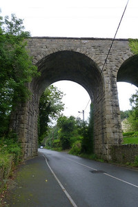 The arch over the Cherrywood Road. Bride's Glen Viaduct, Thursday, 05/07/12