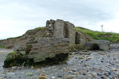 Former railway bridge on the beach at Bray. Thursday, 05/07/12