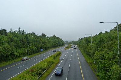 The N11 road near Shankill. The Harcourt Street line passed through here just before the road curves. Thursday, 05/07/12