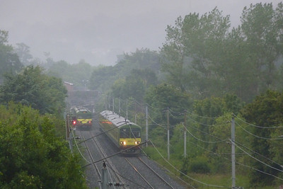 The view looking north towards the present Shankill station. The original Harcourt Street line crossed this location from right to left, approximately where the southbound DART is located. Thursday, 05/07/12