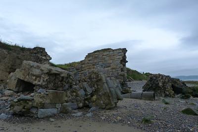 Former railway bridge on beach at Bray. Thursday, 05/07/12