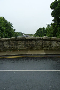 The roof of the original station at Shankill, visible over Stonebridge Road. Thursday, 05/07/12
