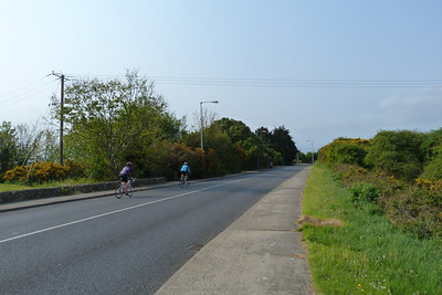 The Carrickbrack Road near the recycling area and car park.