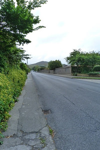 Looking back up the Carrickbrack Road towards the summit.