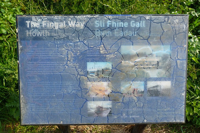 Further along the route and Fingal County Council have been good enough to put up a history of the tram route, except the elements have taken their course.