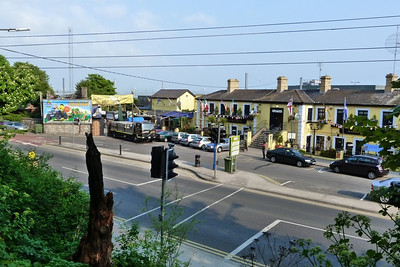 The railway station at Howth which is now mostly a pub/restaurant. The tram bridge was across here.