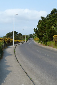 The Carrickbrack Road where it gets close to the sea.