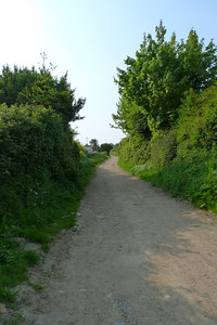 Looking along the former route towards the summit.