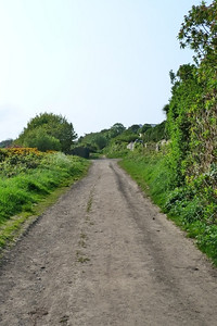 Looking up along the route. This part here is used by more than just walkers.