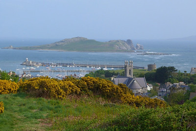 Another view from the line over Howth Village and out to Ireland's Eye, and part of Lambay Island on the right.