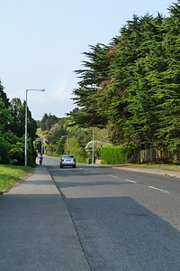 The Carricbrack Road which was built on the former tram route, heading down towards Sutton.