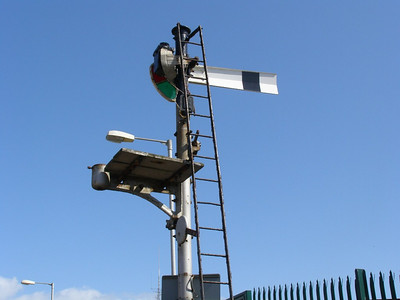 Rear of semaphore signal Rosslare Harbour 10 November 2008