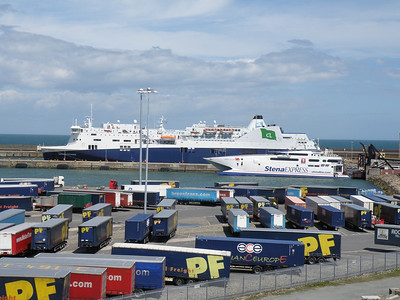 Ferries at Rosslare Harbour 17 July 2010