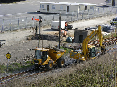 Work underway on the new 'station' Rosslare Harbour 10 November 2008